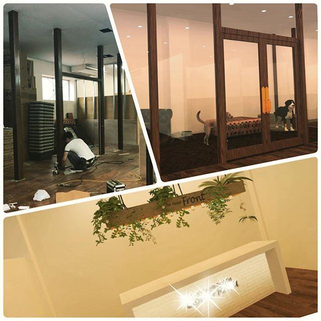 先週着工した現場のレポートです!ペットホテルのブースになる区画の間柱がたちました!パースの検討と、並行して、その他の色決め、現場のスピードに負けないように、検討、錯誤していきます!後出しのカウンターもそのままOK頂いた、いい感じの空間になりそうですww#ペットホテル#沖縄 #デザイン#店舗改装#LABOZ#住宅設計#リノベーション#犬 #旅行 #店舗設計